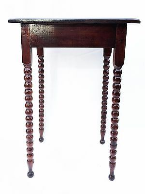antique primitive folk art furniture nightstand side table Bobbin leg