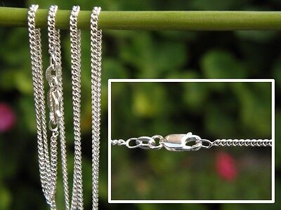 "1.2mm CURB Chain (16"" 40cm - 24"" 60cm) - 925 SOLID Sterling Silver"