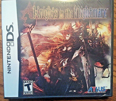 Knights in the Nightmare  (Nintendo DS, 2009) NEW SEALED rare and out of print