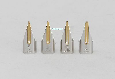 1 x Lamy Safari spare single 14 c gold nibs in different sizes in Silver-Gold