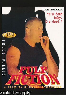 Poster: Movie Repro : Pulp Fiction - The Boxer - Bruce Willis - Free Ship Lw7 T