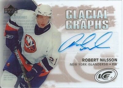 (HCW) 2005-06 UD Ice Glacial Graphs ROBERT NILSSON Auto Upper Deck 00199