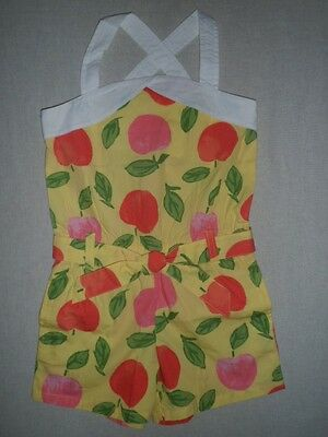 Gymboree PREPPY PEACH Yellow Fruit Belted Tank Short Romper NWT 5 6 8 9 10 12