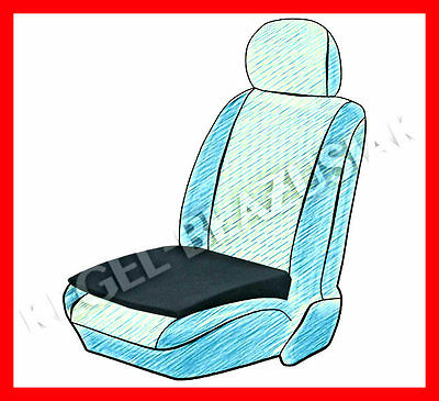 SEAT SUPPORT WEDGE HEIGHT BOOSTER CAR CUSHION ADULT - black
