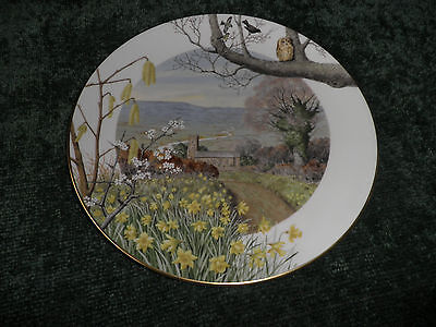 Royal Worcester Cabinet Plate 'a Country Church In March' - Ltd Edition