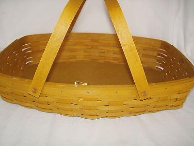 Large EVERYDAY ESSENTIALS Warm Brown Basket & Insulated Cooler Longaberger NEW