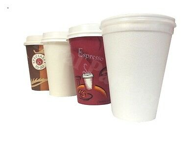 Coffee/Tea Cups Paper Disposable for Hot Drinks,Takeaway,Catering,Party,Cafe,Use