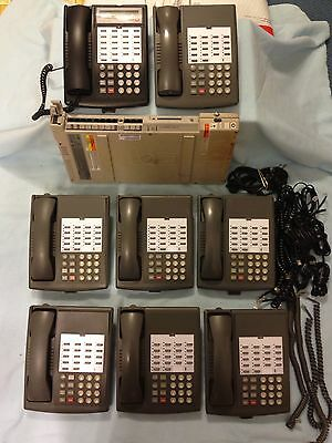 Avaya AT&T Lucent Partner ACS R6 Phone System (7) 18 Phones (1)18D Phone