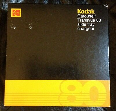 "Kodak Carousel Transvue 80 Slide Tray B80T Holds up to 80 2 X 2"" Slides"