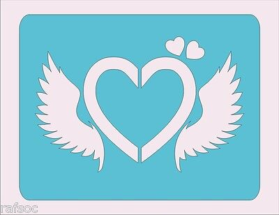 Stencil Heart Wings Scrapbook Crafts Paint Color Wall Decoration  Kids #120