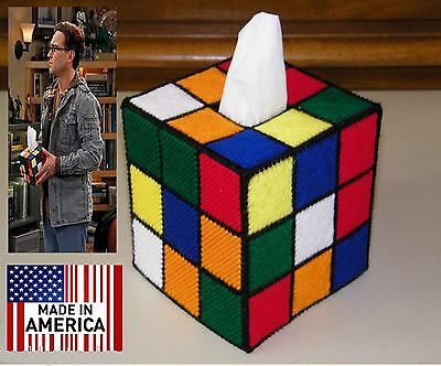 Rubik's Rubiks Rubix Cube Tissue Box Cover Seen on Big Bang Theory Style #3 Hand