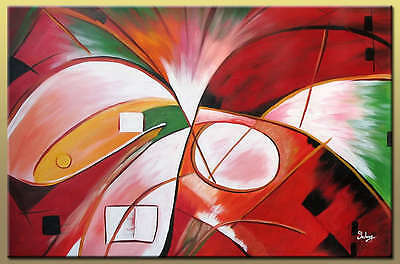 Yuhong Life is Beautiful hand painted abstract oil painting bestbid_mall D908