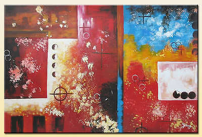 Yuhong Do You Remember hand painted abstract  oil painting bestbid_mall D828