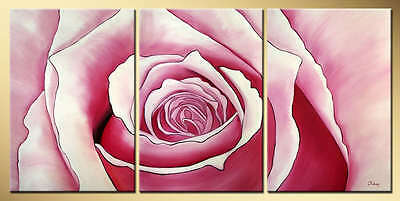Yuhong Pink Rose hand painted floral oil painting bestbid_mall D622
