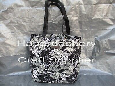 Everything Mary Tote Bag *padded*black*white*grey Scattered Flowers