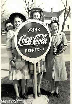 Girl's by Coca Cola Advertising Sign Vintage photo print Hartford, Wisconsin