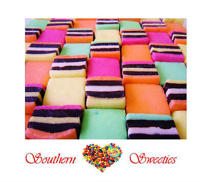 Licorice Allsorts 1Kg Bulk Rainbow Colourful Lollies Candy White Pink Green Xmas