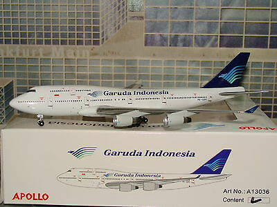 Apollo 400 Garuda Indonesia B747 -400 O/C  PK-GSH 1/400**Free S&H** 0913