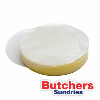 250 x EXTRA THICK - Cellophane Burger Discs/ Paper 5'' = 12.4cm
