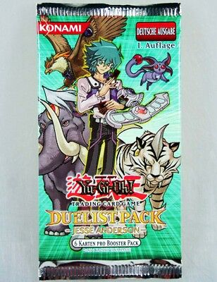 4x Booster Yu-Gi-Oh Duelist Pack  Jesse Andersen, Trading Card Game