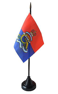 Table Flag with plastic stand and base. Desk Accessories & Storage Products Royal Artillery Regiment Desk