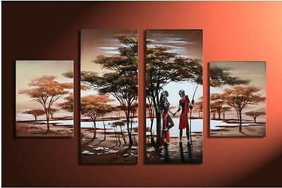 new 4pc Huge WALL Modern Abstract on Canvas decorative Oil Painting (No frame)