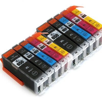 10X Ink Cartriges PGI-650 CLI-651 XL for Canon Pixma MG7160 MG5560 IP7260 MG6460