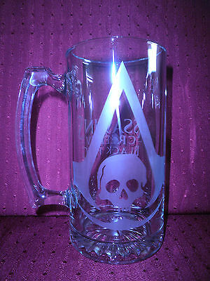 Assassin's Creed Black Flag  Etched  Stein-ps3-xbox360,video games