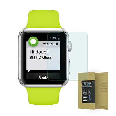 9H Hartglas für Apple Watch 38mm HD Display Schutz Glas Panzer Folie Glasfolie