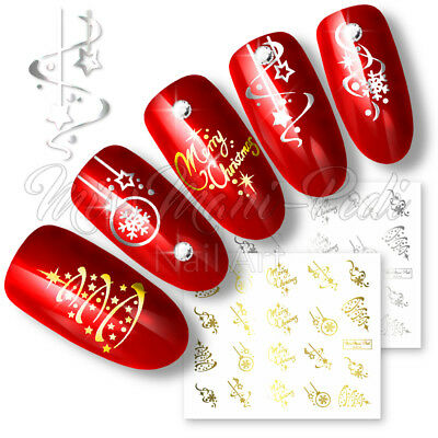 Nail Water Decals Transfers Stickers Christmas Xmas Santa Snowflakes Selection
