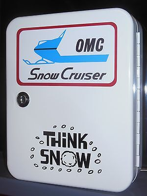 Vintage Omc  Snowmobile 1960S Era Dealership Service Counter 48 Place Keybox