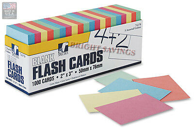 NEW Pacon Blank Flash Cards 1000 count FAST SHIP