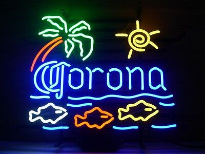 New Corona Extra Fish Real Glass Neon Light Sign Home Beer Bar Pub Sign V56