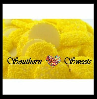 Yellow Speckles On White Chocolate 1Kg Freckles Lollies Choc Candy Jewels