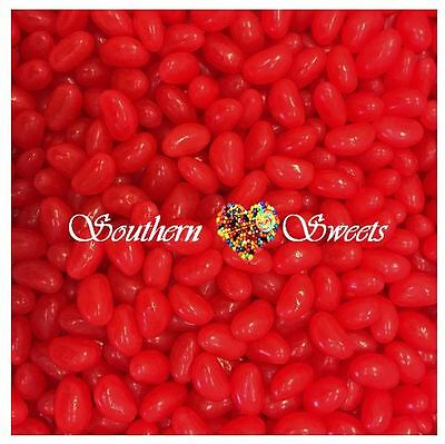 1KG RED JELLY BEANS Red Lollies Candy Buffet Bulk Lollies