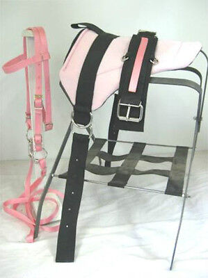 Mini Horse / Sm Pony Bareback Saddle  Set With Cinch - Pink