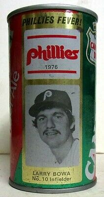 1976 Canada Dry Ginger Ale Pulltab Can - Phillies - Larry Bowa