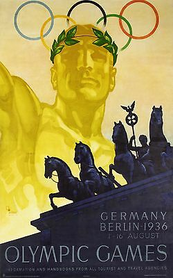 1936 Berlin Olympics vintage poster reprint