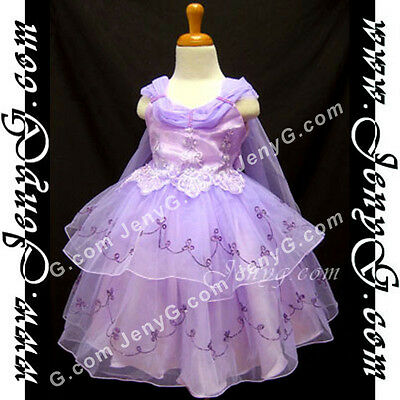 #SP51 Flower Girl/Holiday/Christening/Formal/Pageant Dress, Purple 0-4 Years