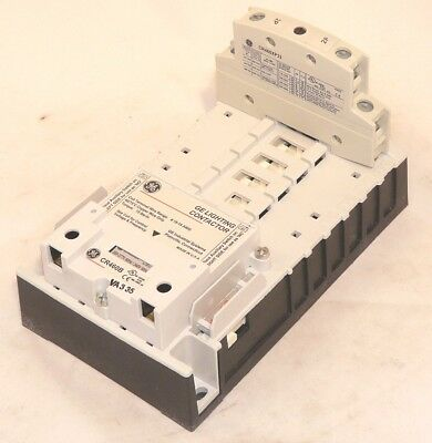 New GE CR463L02AUA 2 pole NC 480V Electrically Held Lighting Contactor