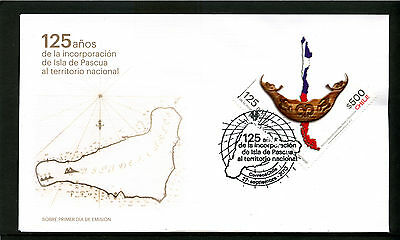 Chile 2013 FDC 125 years annexation Easter Island - Rapa Nui - to Chile
