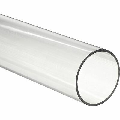 """48"""" Polycarbonate Round Tube Clear- 2-1/8"""" ID x 2-1/4"""" OD x 1/16"""" Wall (Nominal)"""