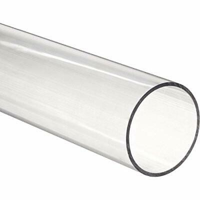 """48"""" Polycarbonate Round Tube (Clear) - 3-3/4"""" ID x 4"""" OD x 1/8"""" Wall (Nominal)"""