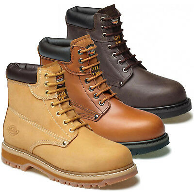 040dfe7a76d MENS DICKIES CLEVELAND Leather Safety Work Ankle Boots Steel Toe Cap Shoes  Sizes
