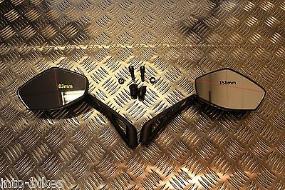 E Marked Pair Mirrors Retro Sports For Ducati Monster 696 2008 - 2014