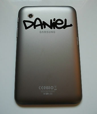 "Samsung Galaxy Tab 7"" inch Personalised Name Sticker in Graffiti 2 Font Tablet"