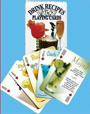 Cocktail Drinks Recipes Playing Cards. 54 Recipes, Cocktail Party Drinking Game