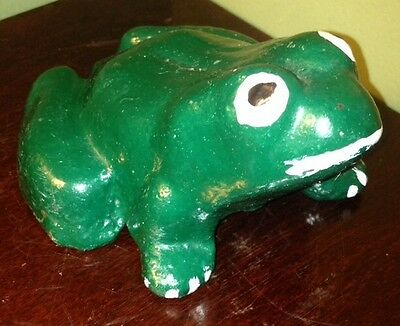 Antique Victorian Cast Iron Frog LOOK! WOW NICE!