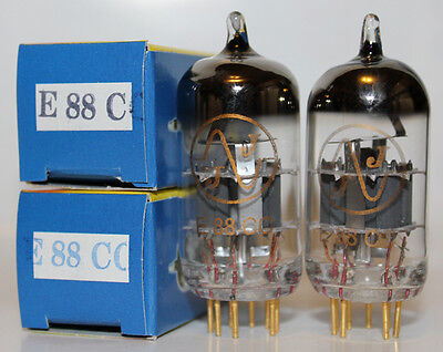 MATCHED PAIR JJ Gold Pin preamp tubes,E88CC,Best 6922 / 6DJ8