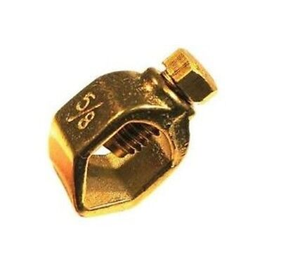"""Perfect Vision 5/8"""" Copper Ground Clamps for Grounding Rods UL Approved ASA58"""